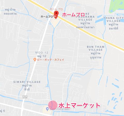 バンプリーホームプロの地図