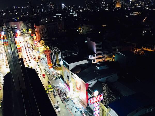 ホテル ロイヤル バンコク チャイナタウンの屋上から見える夜景2