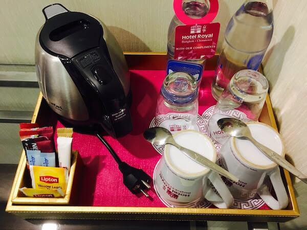 ホテル ロイヤル バンコク チャイナタウンの無料のコーヒー類