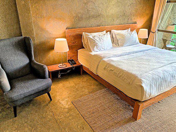 インチャントリードゥープール(inchantreedoopool)の客室ベッド