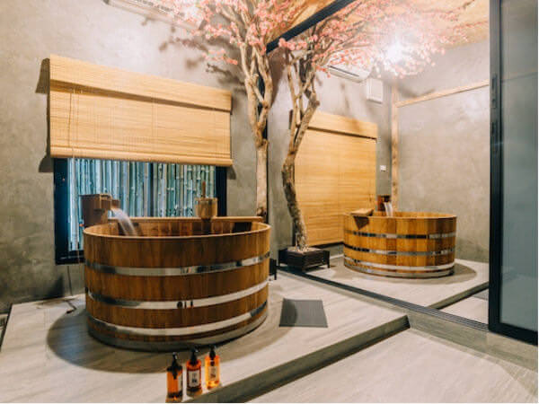 貸切温泉 アンド スパ(Kashikiri Soda Onsen And Spa)の二人用風呂1