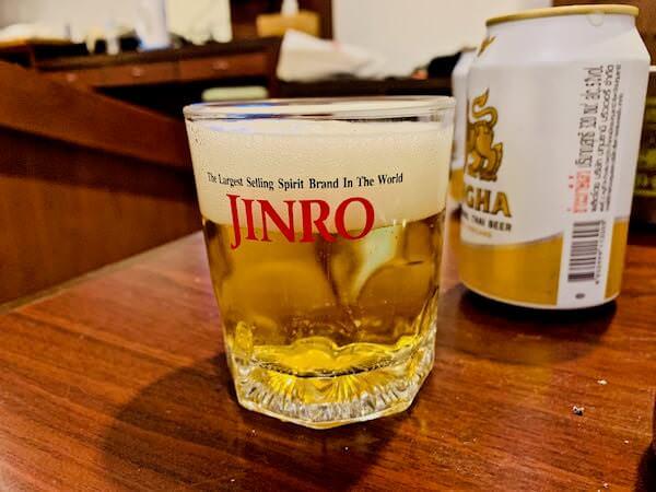 柏屋旅館タイホテル(Kashiwaya Ryokan Thai Hotel)で飲んだビール