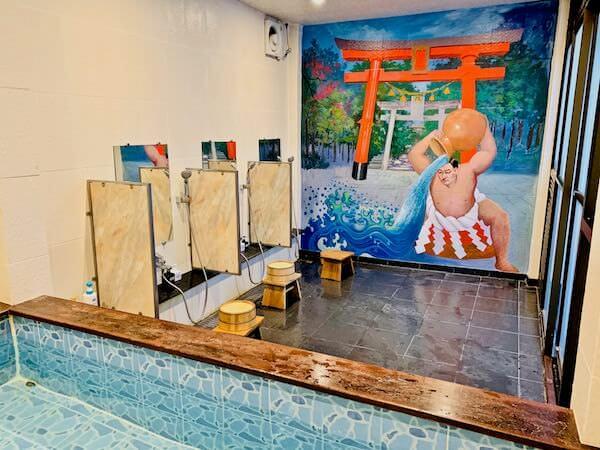 柏屋旅館タイホテルの大浴場