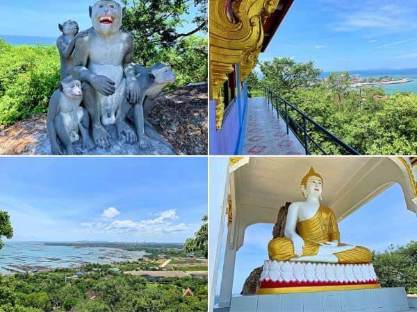 バンセンの猿山頂上に建つ寺院