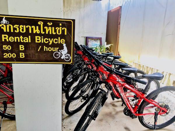 ビジターセンターのレンタル自転車