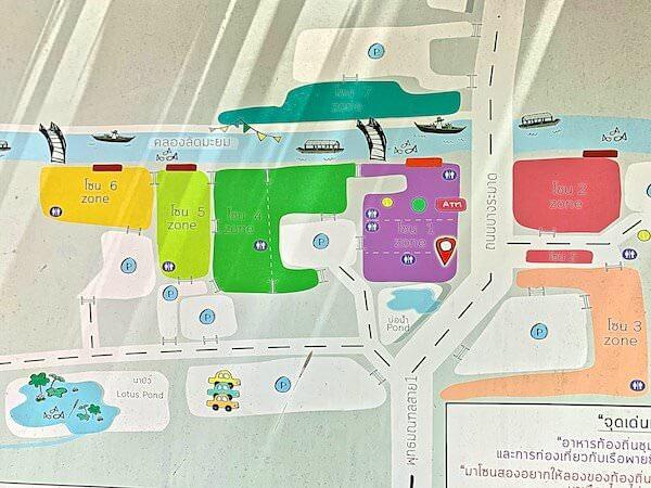 クローンラットマヨム水上マーケットの地図