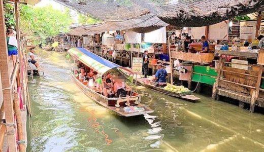 クローンラットマヨム水上マーケットはローカルだが外国人ウケの光景が広がる市場!カオサンから近いよ。