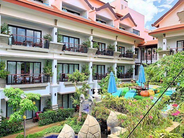 クメール マンション レジデンス(Khmer Mansion Residence)の中庭