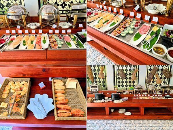 クメール マンション レジデンス(Khmer Mansion Residence)の朝食ビュッフェ