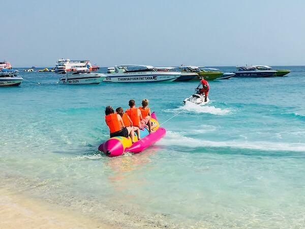 ラン島でのバナナボート