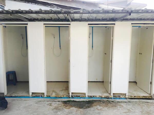 ラン島のシャワールーム