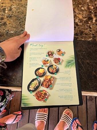 マンノーク島の料理メニュー