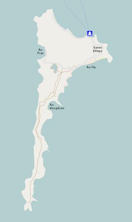 サメット島の全体図