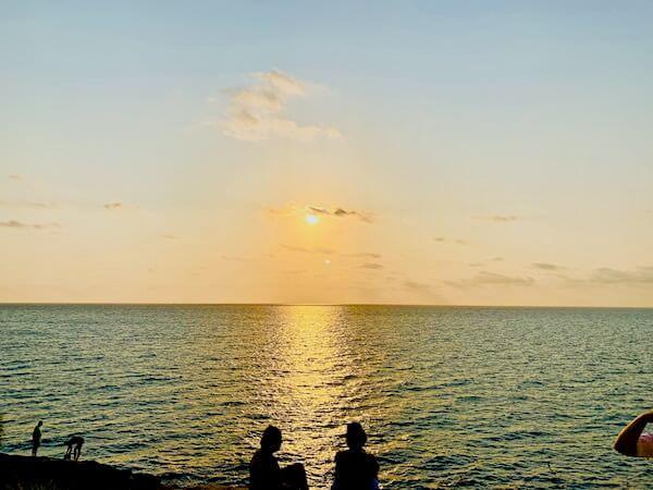 サメット島のサンセットスポットから見える夕日