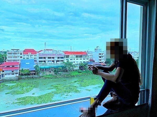 クルンシリ リバー ホテル(Krungsri River Hotel)の客室から見えるリバービューの景色1