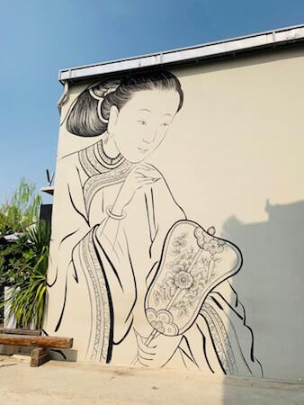 ローン1919(LHONG1919)の敷地内の壁に描かれた絵