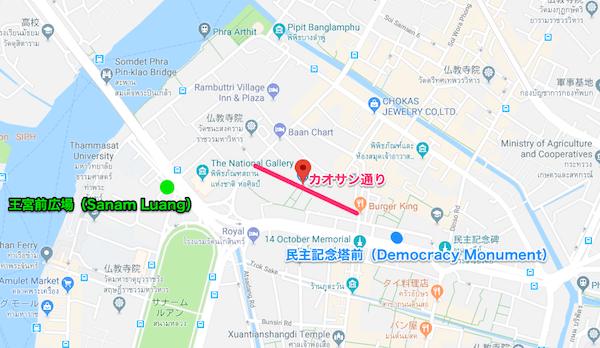路線バスの到着場所