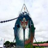 メークロン号という日本の軍艦を見学できるタイ海軍施設「プラジュンジョムクラオ要塞」