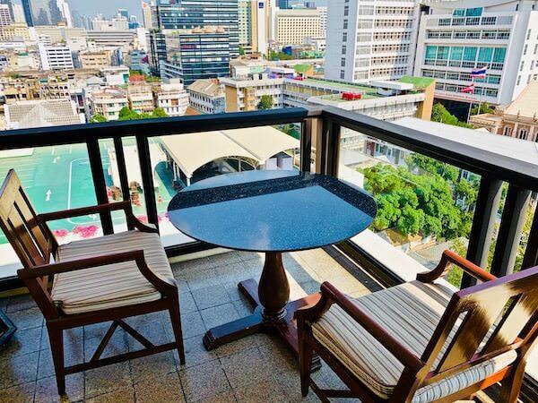 マンダリン オリエンタル バンコク(Mandarin Oriental Bangkok)のバルコニー