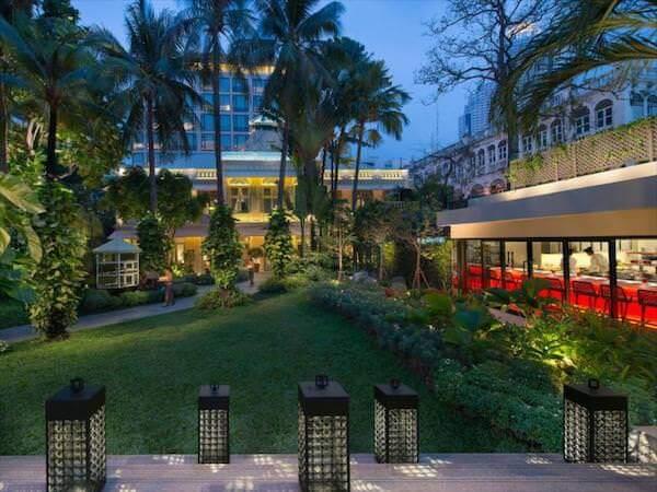 マンダリン オリエンタル バンコク(Mandarin Oriental Bangkok)の中庭