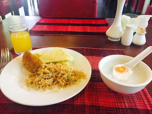 メコン アンコール パレス ホテルの朝食2
