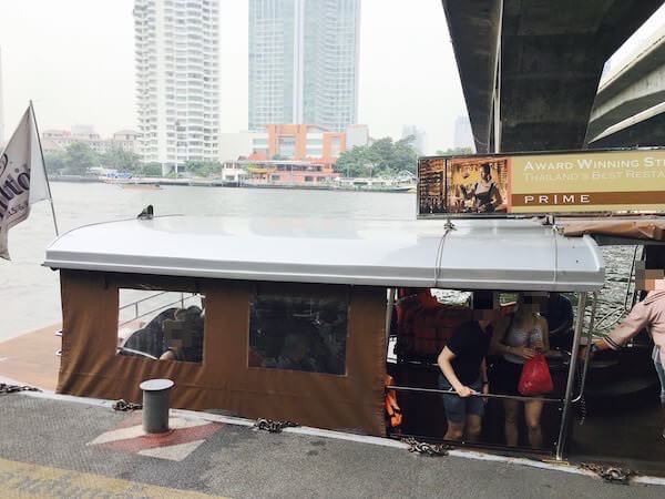ミレニアム ヒルトン バンコク(Millennium Hilton Bangkok)の無料送迎ボート2