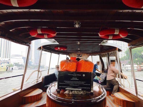ミレニアム ヒルトン バンコク(Millennium Hilton Bangkok)の無料送迎ボート