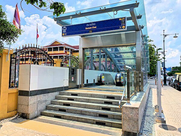 MRTサナームチャイの2番出口