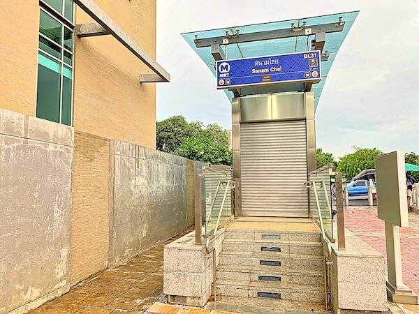MRTサナームチャイ(SanamChai)の5番出口