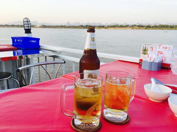 クルーズ船で飲んだビール