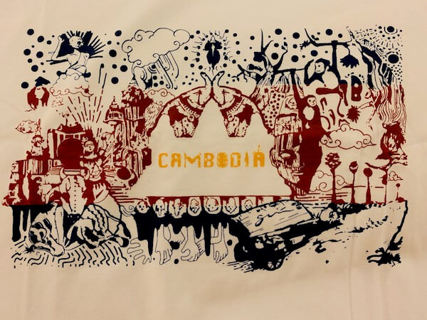 カンボジアTシャツのデザイン