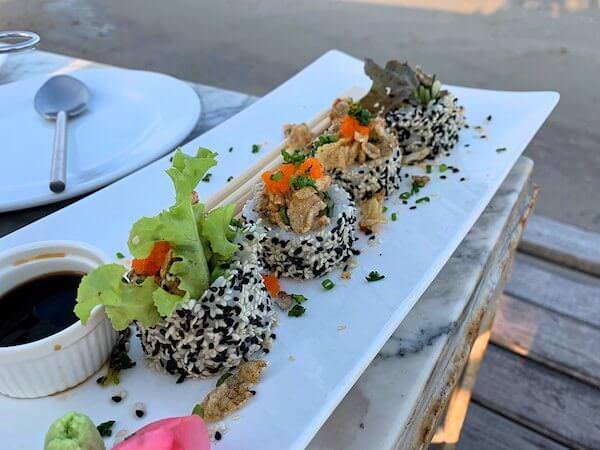 オアシスで食べた巻き寿司