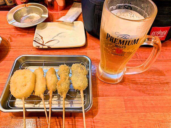 大阪リゾートバイト中に食べた串焼き