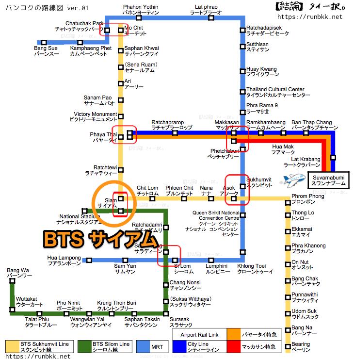 BTSマップ サイアム