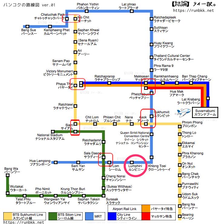MRTマップ ルンピニー