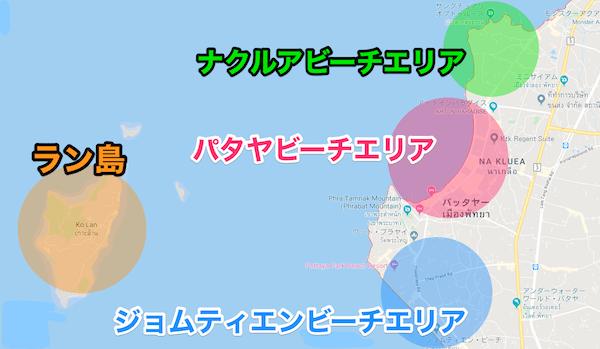 パタヤの地図