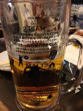 獏のビールジョッキ