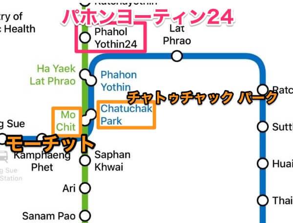 BTSパホンヨーティン24の路線図