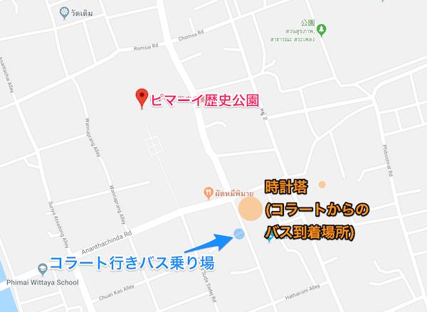 ピマーイの地図