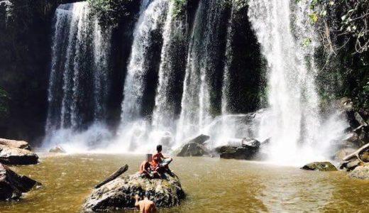 プノンクーレンは幻の巨象「スラードムライ」が眠る聖なる山。地元民と滝つぼで泳ごう。