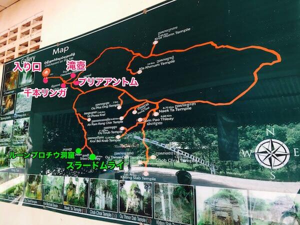プノンクーレンの地図