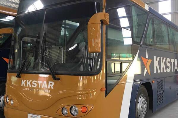 プノンペン国際空港のKK STARエアポートバス