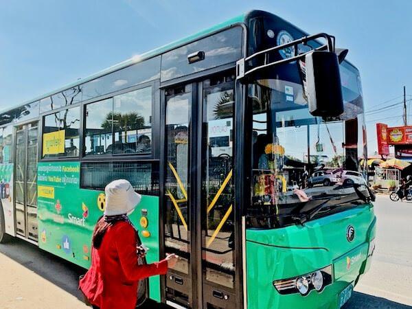 プノンペン国際空港から乗れる路線バス