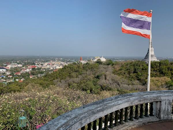 プラナコーンキリ国立歴史公園の頂上から見える景色