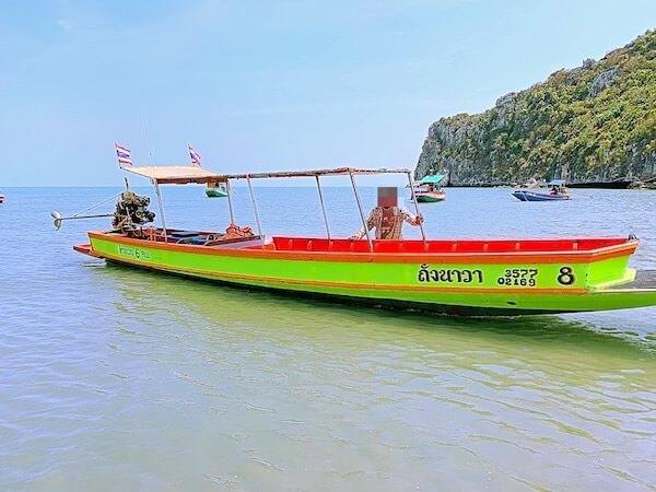 プラヤーナコーン洞窟行きのボート