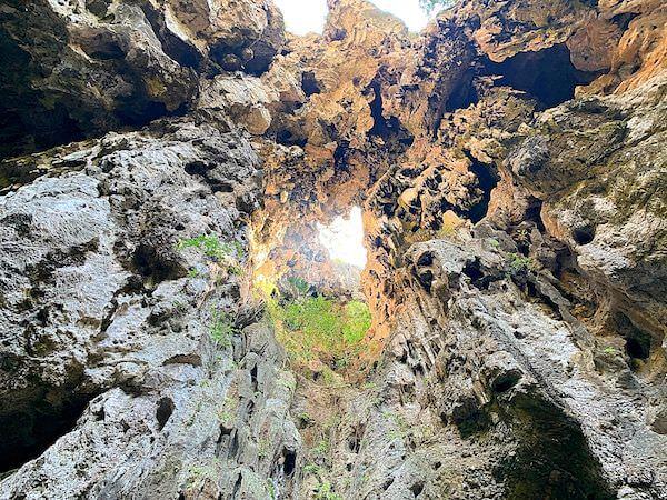 プラヤーナコーン洞窟の開口部