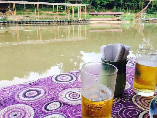 ピン川リバークルーズで飲んだビール