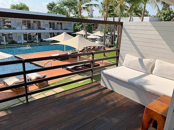 プタラクサ ホアヒン リゾート(Putahracsa Hua Hin Resort)のバルコニー