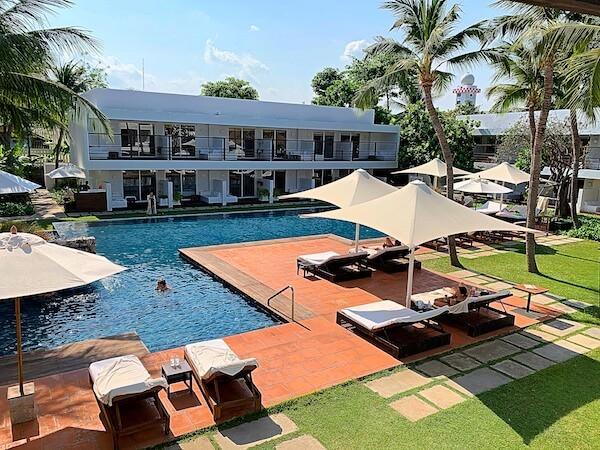 プタラクサ ホアヒン リゾート(Putahracsa Hua Hin Resort)のバルコニーから見える景色