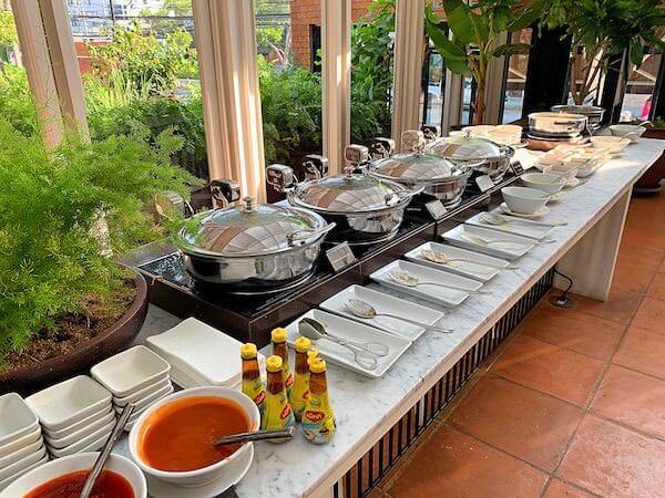 プタラクサ ホアヒン リゾート(Putahracsa Hua Hin Resort)の朝食ビュッフェ